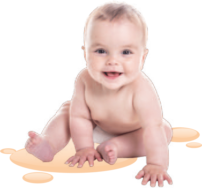 Baby freigestellt - DRUFF Absorber-Granulat