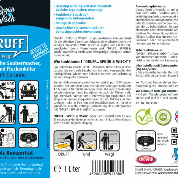 Sprüh&Wisch Konzentrat Sandelholz 250ml Geruchsentferner