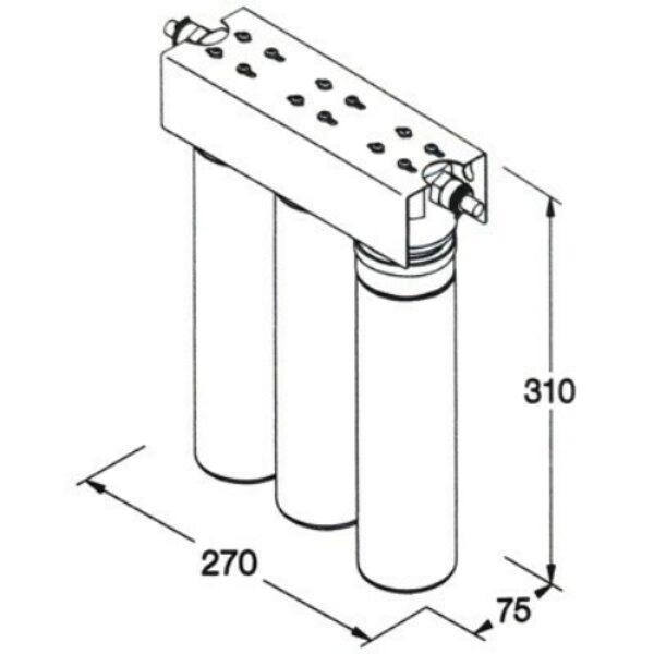 Wasser Michel Modell Silber Direct Flow Molekularfiltration
