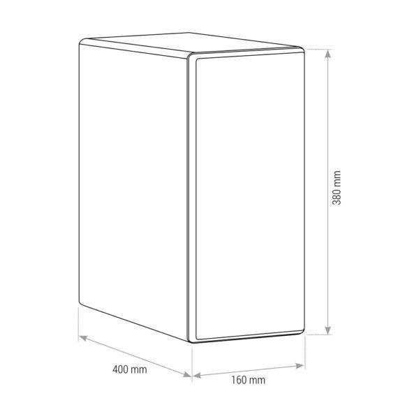 SPRUDELUX INOX ohne Filtereinheit Untertisch-Trinkwassersystem