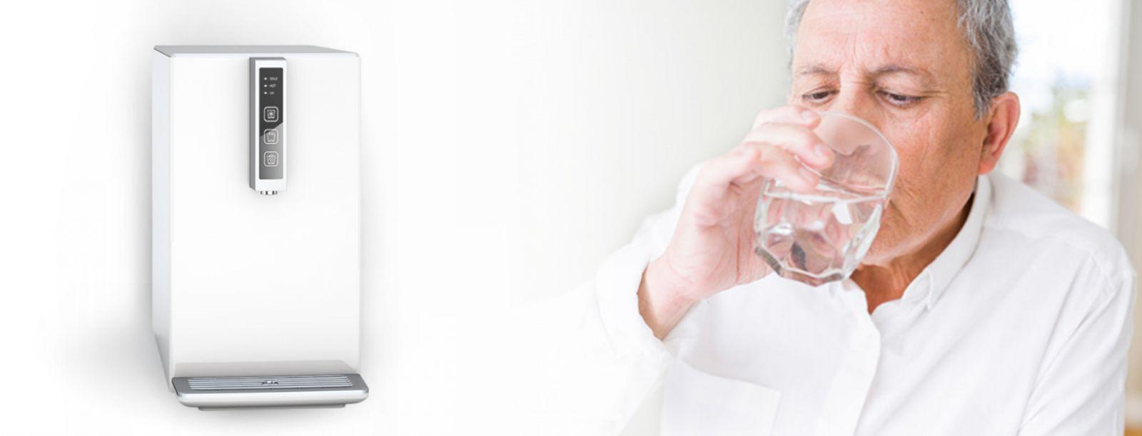 105 banner - Auftisch-Tafelwasseranlage SPRUDELUX® BLACK & WHITE DIAMOND EDITION
