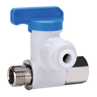 abzweighahn mit integriertem rueckschlagventil 8 3 8 schlauchanschluss 1 4 - Abzweighahn mit integriertem Rückschlagventil/8'*3/8', Schlauchanschluss 1/4'
