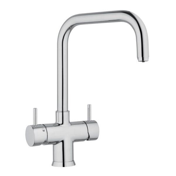 Designer Fünf-Wege-Wasserhahn NOBIUS U-Auslauf, Chrom