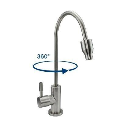 1-Weg-Wasserhahn Edelstahl Wassermicheltornado