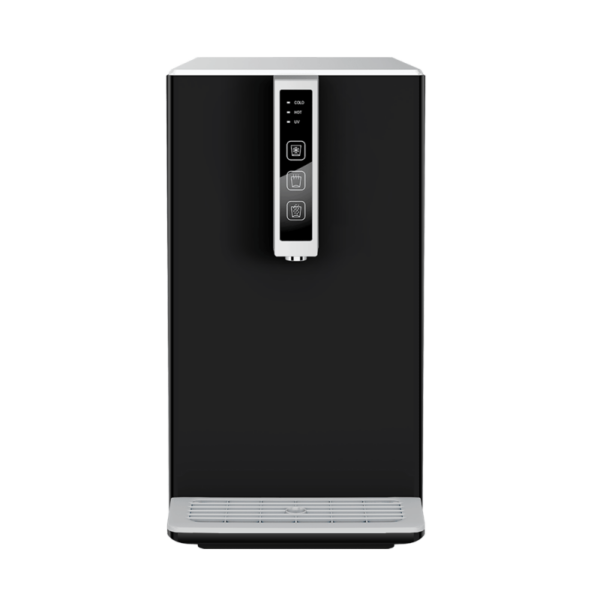 Auftisch-Tafelwasseranlage SPRUDELUX® BLACK & WHITE DIAMOND HOT EDITION