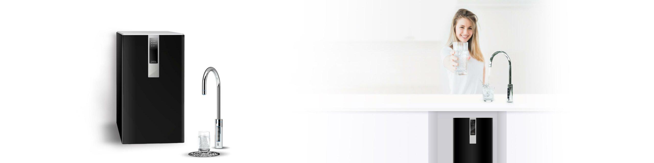 1621308013210 scaled - SPRUDELUX® BLACK & WHITE DIAMOND SERIE Untertisch-Tafelwasseranlage