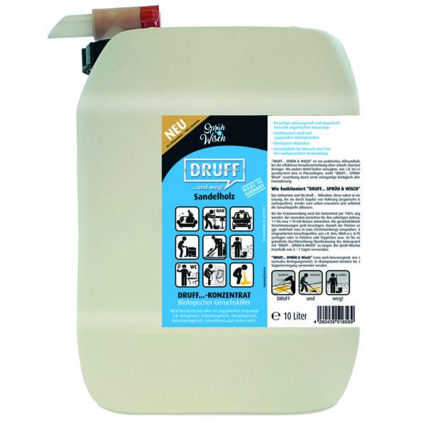 Sprüh&Wisch Konzentrat Sandelholz 10L Geruchsentferner
