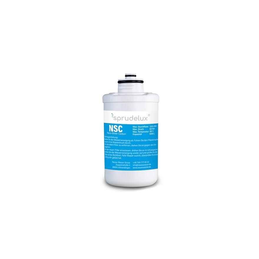 BlackWhiteDiamondFilter klein NSC - NSC NANO SILVER CARBON FILTER 4 Ersatzfilter für Sprudelux® Diamond Tafelwasseranlagen