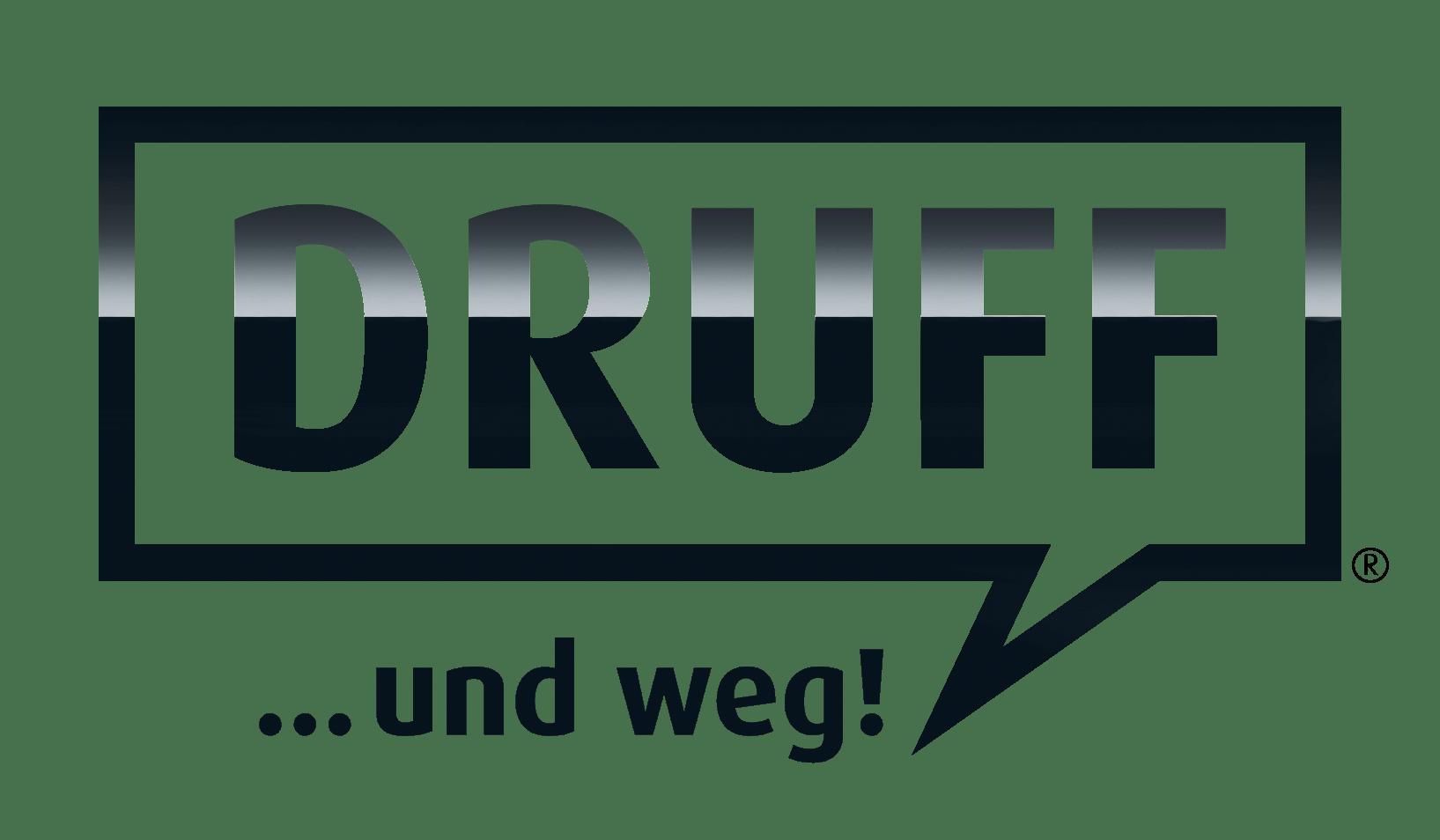 Schriftzug DRUFF 2021 glanz schwarz - Profi Autopflege Set + Reinigungs Set DRUFF... und weg! Black Line