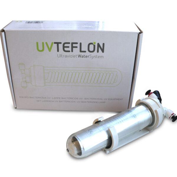 """Teflon UV Lampe 6W Water Treatment Components mit 1/4"""" Schlauchanschluss für Wasserfilter + Aquarium"""